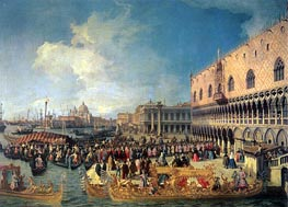 Reception of the Imperial Ambassador at the Doge's Palace | Canaletto | Painting Reproduction