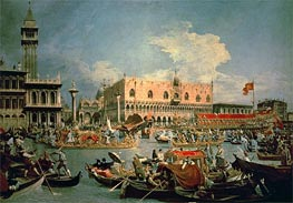 Return of the Bucintoro on Ascension Day, 1729 by Canaletto | Painting Reproduction