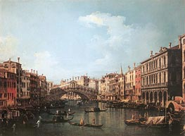 Rialto Bridge from the South, c.1735/40 by Canaletto | Painting Reproduction