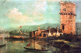 Torre di Marghera, 1741 by Canaletto | Painting Reproduction