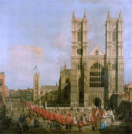 Procession of the Knights of the Bath, 1749 by Canaletto | Painting Reproduction