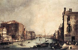 Grand Canal: Looking East from the Campo San Vio, c.1725 by Canaletto | Painting Reproduction
