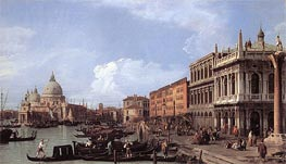 The Molo: Looking West, 1730 by Canaletto | Painting Reproduction