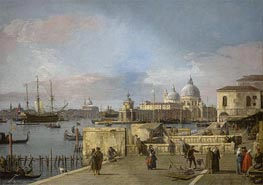 Entrance to the Grand Canal from the Molo, Venice, c.1742/44 by Canaletto | Painting Reproduction