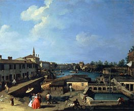 Dolo on the Brenta | Canaletto | Painting Reproduction