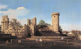 Warwick Castle: the East Front, 1752 by Canaletto | Painting Reproduction