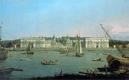 Greenwich Hospital from the North Bank of the Thames, c.1752 by Canaletto | Painting Reproduction