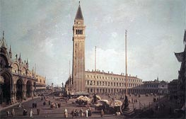 Piazza San Marco: Looking South-West, c.1750/59 by Canaletto | Painting Reproduction