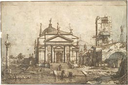 The Church of the Redentore, c.1742 by Canaletto | Painting Reproduction
