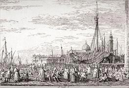 The Market on the Molo | Canaletto | Gemälde Reproduktion