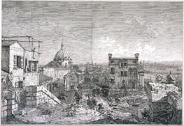 Imaginary View of Venice, 1741 von Canaletto | Gemälde-Reproduktion