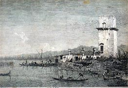 La Torre di Malghera, undated by Canaletto | Painting Reproduction