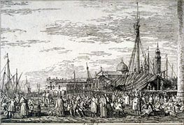 The Market on the Molo, undated von Canaletto | Gemälde-Reproduktion