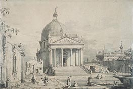 Veduta Ideata with San Simeone Piccolo, c.1735 von Canaletto | Gemälde-Reproduktion
