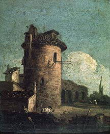 View with Ruins, undated von Canaletto | Gemälde-Reproduktion