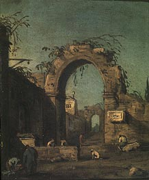 View of an Ancient Doorway, undated by Canaletto | Painting Reproduction