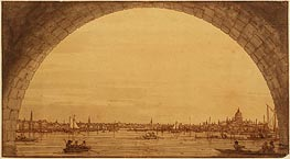 Distant View of St. Paul's Cathedral, c.1746/55 von Canaletto | Gemälde-Reproduktion