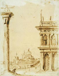 The Piazzetta Looking towards Santa Maria della Salute, c.1726 von Canaletto | Gemälde-Reproduktion