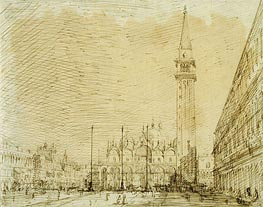 San Marco and the Piazza Looking East | Canaletto | Gemälde Reproduktion