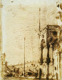 The Piazza Looking North-West with the Narthex of San Marco | Canaletto | Gemälde Reproduktion