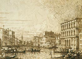 A View on the Lower Reaches of the Grand Canal, c.1730 by Canaletto | Painting Reproduction