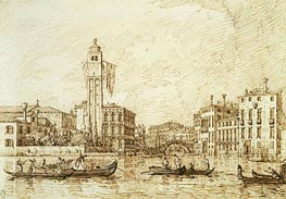 San Geremia and the Entrance to the Cannaregio, 1734 von Canaletto | Gemälde-Reproduktion