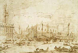 The Bacino di San Marco on Ascension Day, 1729 von Canaletto | Gemälde-Reproduktion