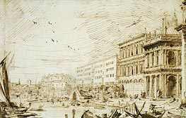 The Molo Looking West | Canaletto | Painting Reproduction