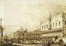 The Palazzo Ducale and Molo Looking West | Canaletto | Gemälde Reproduktion