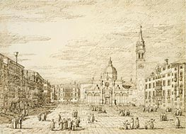 Venice: Campo Santa Maria Formosa, c.1735/40 by Canaletto | Painting Reproduction