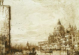 The Lower Reach of the Grand Canal, Looking East, c.1734 by Canaletto | Painting Reproduction