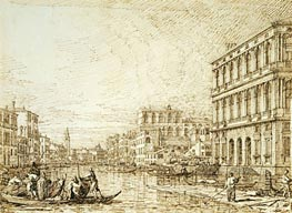 The Lower Reach of the Grand Canal, c.1734 by Canaletto | Painting Reproduction