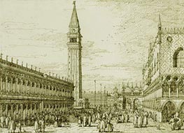 The Piazzetta Looking North | Canaletto | Painting Reproduction
