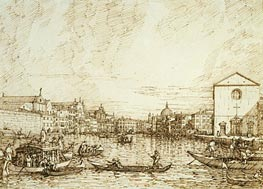 The Grand Canal Looking East from the Fondamenta della Croce | Canaletto | Painting Reproduction