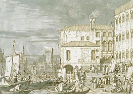View of the Fontegheto della Farina, c.1735/40 by Canaletto | Painting Reproduction