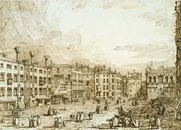 Campo Santo Stefano, c.1735/40 by Canaletto | Painting Reproduction