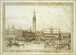 The Molo from the Bacino, c.1740/45 by Canaletto | Painting Reproduction