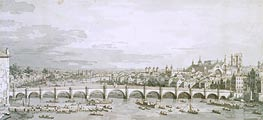Westminster Bridge, London | Canaletto | Painting Reproduction