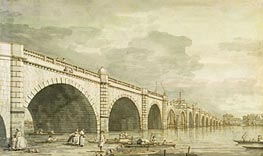 London: Westminster Bridge under Construction | Canaletto | Painting Reproduction