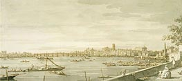 London: A View of Westminster from the Terrace of Somerset House, c.1750 by Canaletto | Painting Reproduction