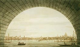 London: The City Seen through an Arch of Westminster Bridge | Canaletto | Painting Reproduction