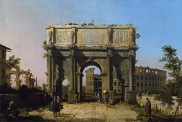 View of the Arch of Constantine with the Colosseum | Canaletto | Gemälde Reproduktion