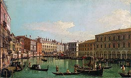 The Grand Canal, Venice, Looking South toward the Rialto Bridge | Canaletto | Painting Reproduction