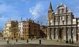 Campo Santa Maria Zobenigo, Venice, c.1730/40 by Canaletto | Painting Reproduction