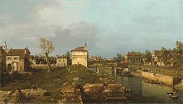 The Porta Portello, Padua, c.1741/42 by Canaletto | Painting Reproduction