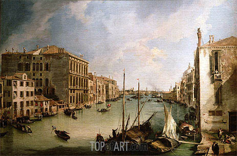 View of Grand Canal from San Vio, Venice, c.1723/24 | Canaletto | Painting Reproduction