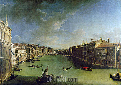 Grand Canal From the Palazzo Balbi, 1724 | Canaletto | Painting Reproduction