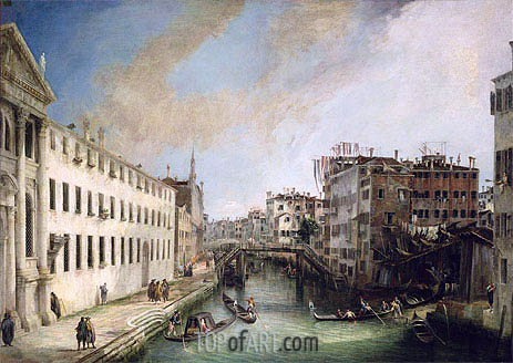 Rio dei Mendicanti, c.1720/25 | Canaletto | Painting Reproduction