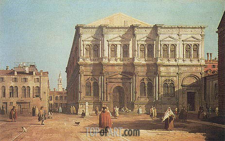 Campo San Rocco, a.1730 | Canaletto | Painting Reproduction