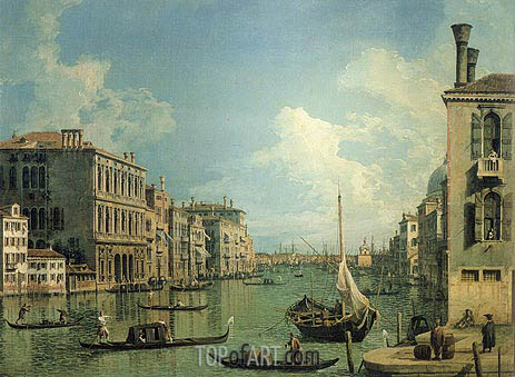 Grand Canal Near the Campo San Vio, c.1730 | Canaletto | Painting Reproduction